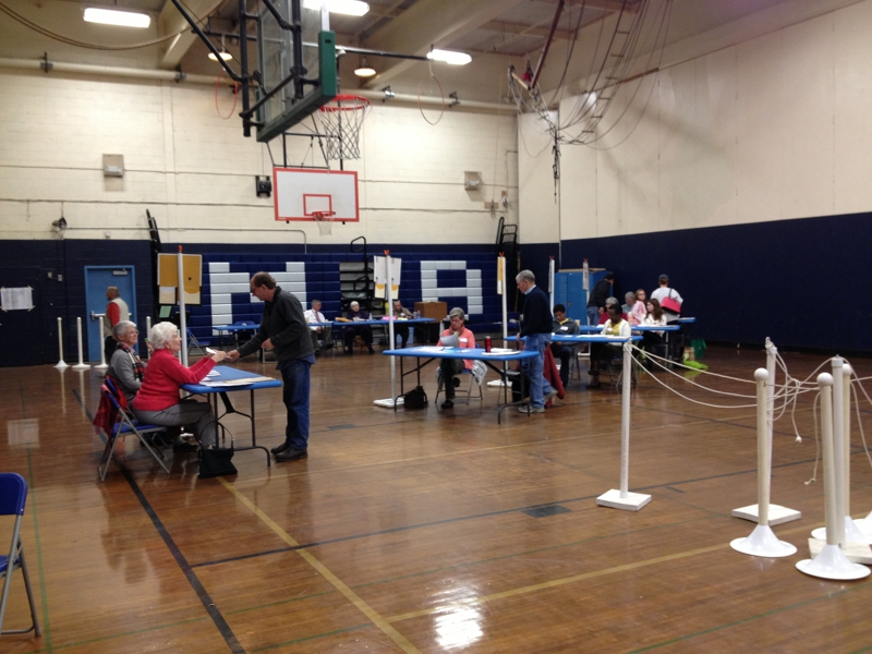 Voting at Middlebrook School
