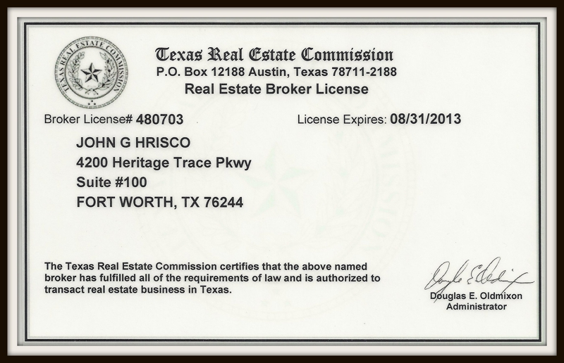 Welcome Tarrant County Texas Newest Real Estate Broker