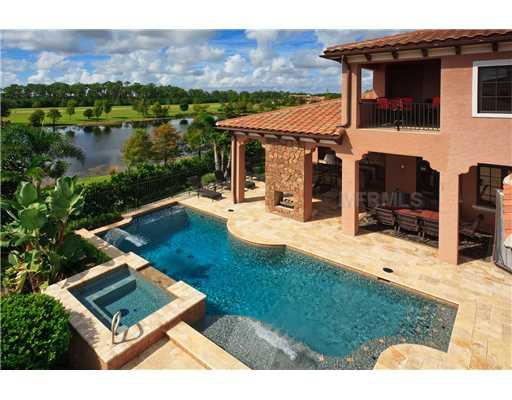 Lake nona estates in orlando florida 32827 for Florida pool homes