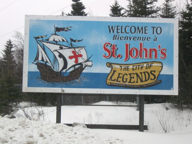 St. John's Welcome sign