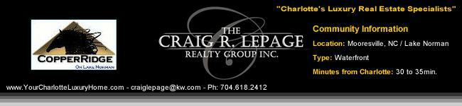 CopperRidge / Mooresville NC / Lake Norman / Waterfront / Luxury Homes