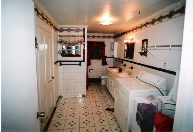 Bathroom and Laudry before is dirty and out dated