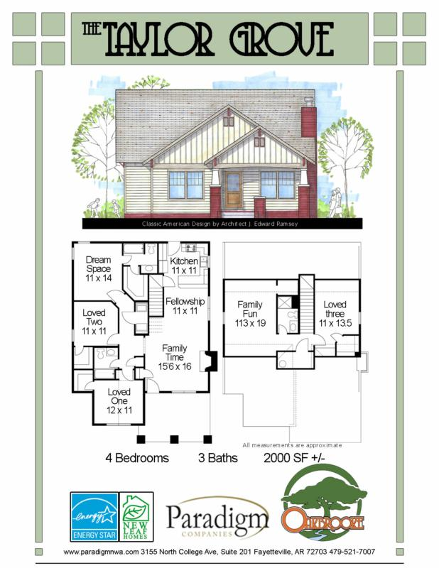 The Taylor Grove | Oakbrooke Subdivision | Fayetteville, AR