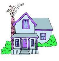 house, purple trim