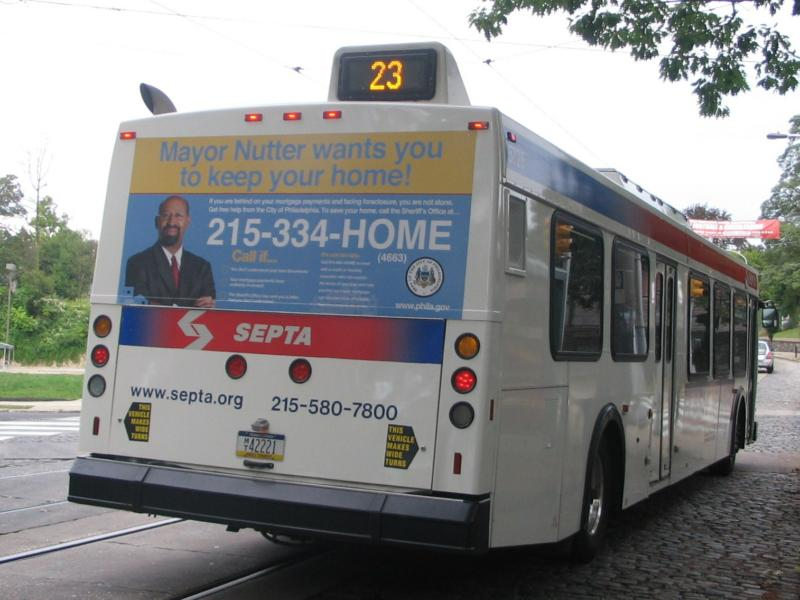 Save Your Home Septa Bus Ad