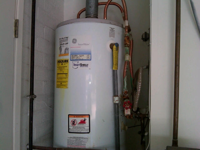 corroded hot water heater