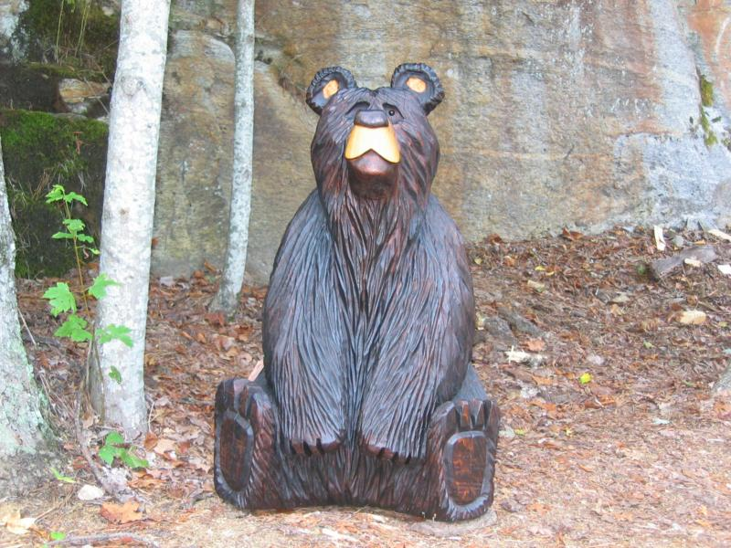 Adorable bearable art in the mountains