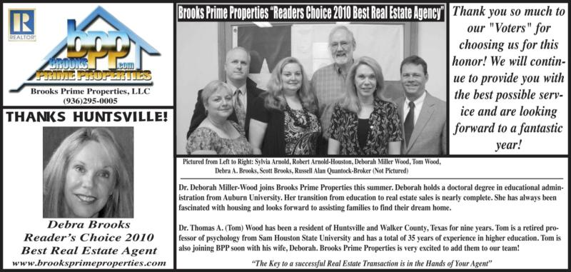 Brooks Prime Properties Best Real Estate Agency Huntsville Texas