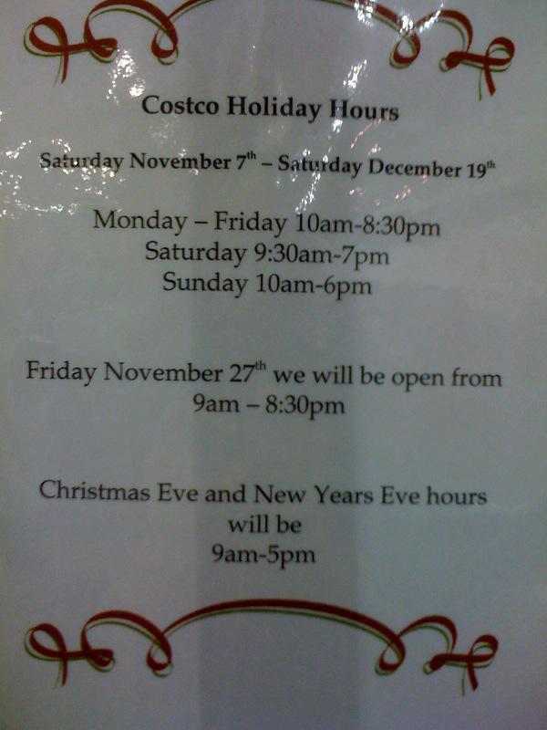 Costco Holiday Hours Livermore Ca Alameda County California