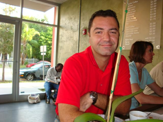 Raphael Perrier, one of the owners of Kahwa Coffee