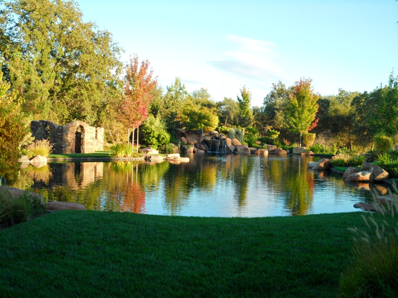 Pond at entrance to Terracina Estates in Loomis, CA 95650