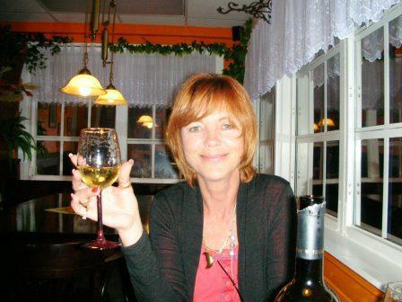 Anne having fun