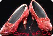 ruby red shoes of Ginny of Oz