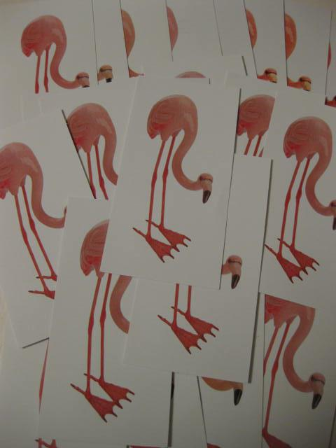 Pink flamingo cards from Color for Real Estate