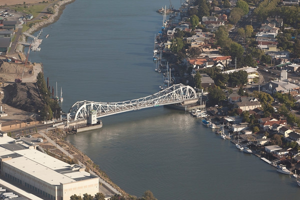 Aerial view of High Street Bridge photo by Scott  Hargis