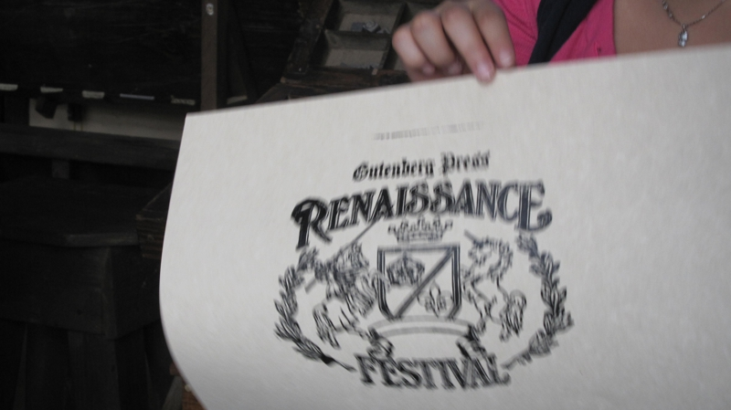 printed at ren fest