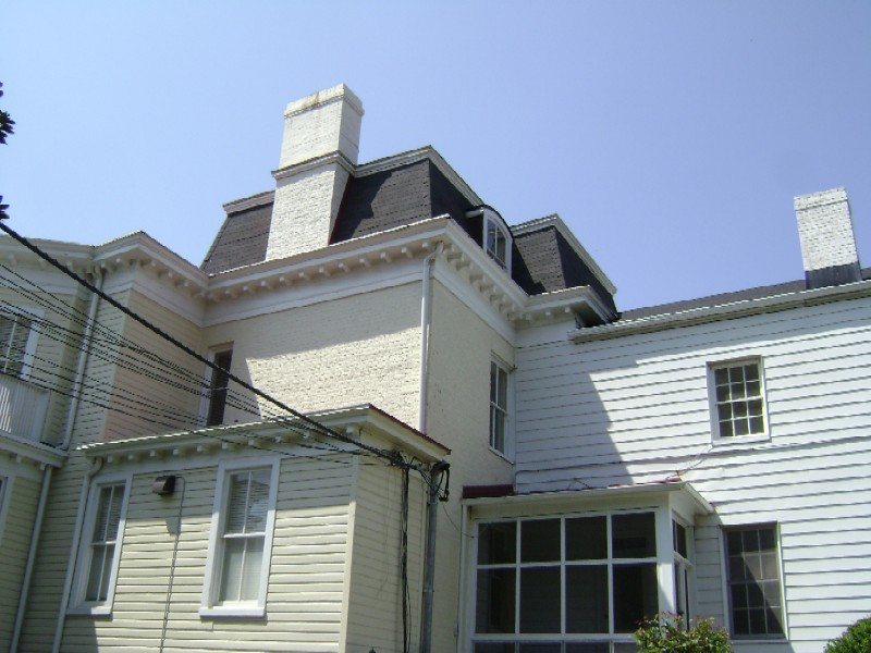 Rigg Thompson House Back side - showing outline of original 2nd Emipre style