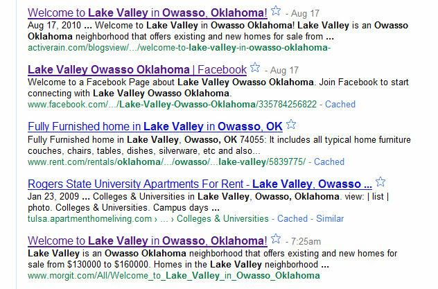 Lake Valley Search Results by Bob Haywood