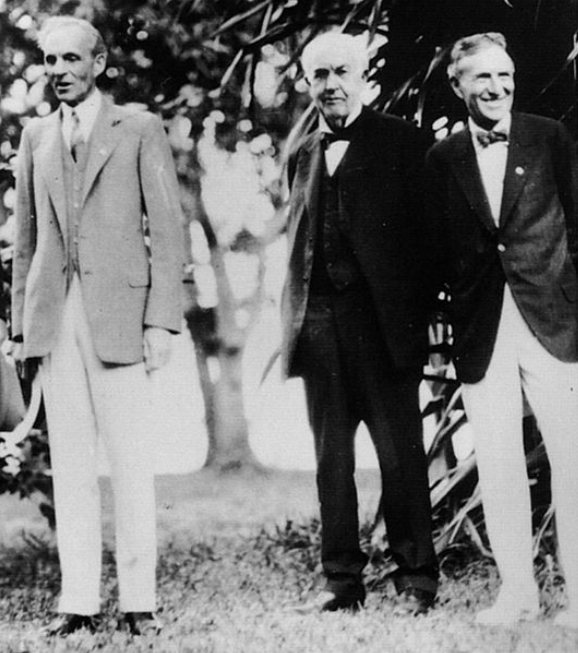 Henry Ford, Thomas Edison, Harvey Firestone