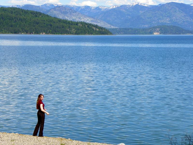 Tranquil shores of Lake Pend Oreille