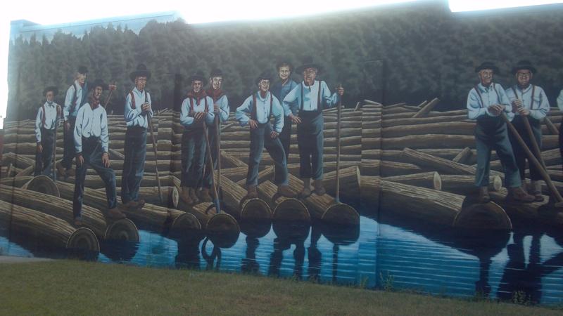 rivermen mural