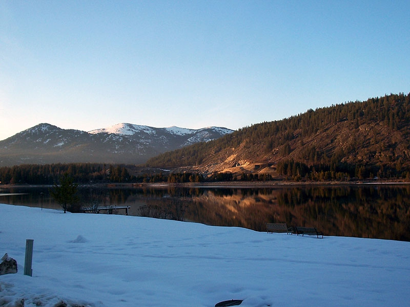 Pend Oreille River in winter