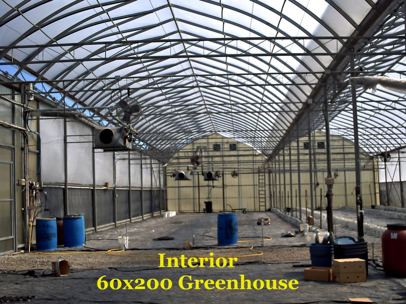 Large 60 x 200 Hydroponic Greenhouse Interior Tiverton, RI
