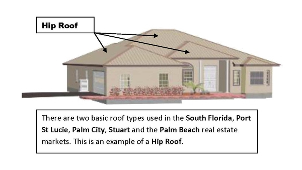 Port st lucie fl real estate new construction roof types for Different types of roof construction