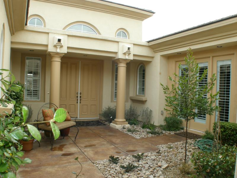 Home with interior courtyard