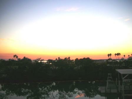 sunset in Tierra verde
