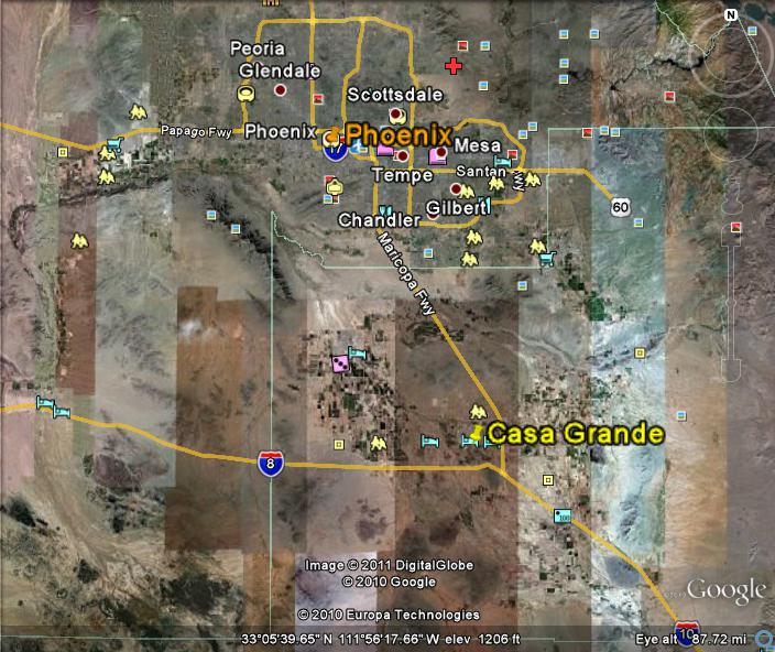 Casa Grande Homes For Sale on the Map