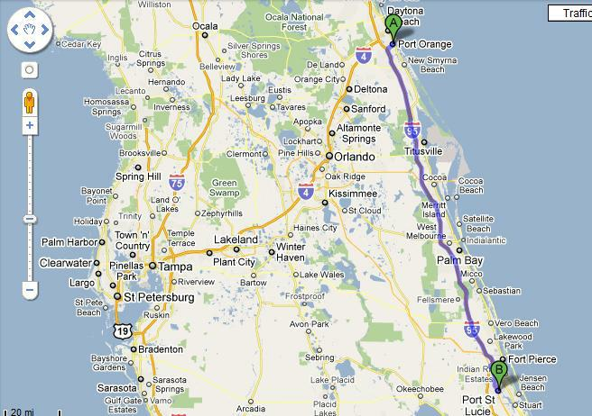 Where Is Daytona Beach In Comparison To Other Florida Cities You