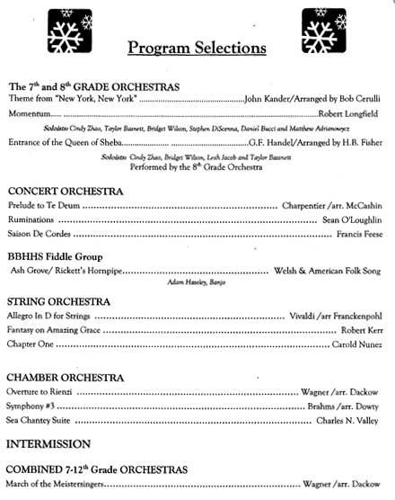 Brecksville Broadview Heights Middle School Music Program