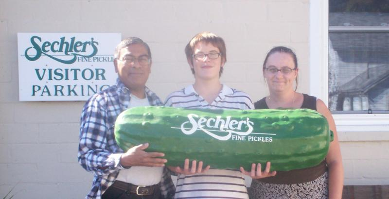 Us with Giant pickle