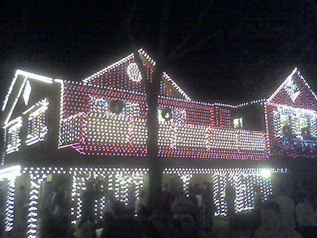 christmas lights are all aglow at sliver dollar city - Silver Christmas Lights