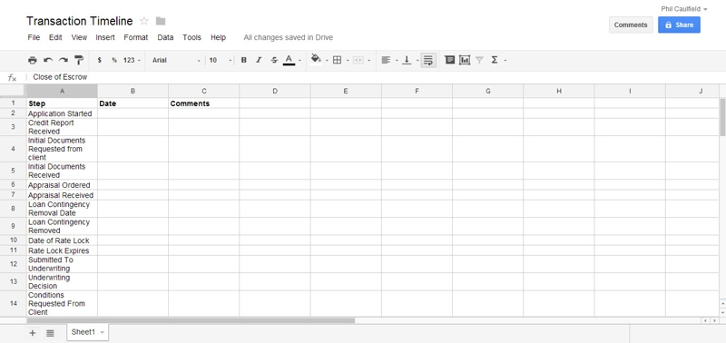 How A Google Drive Transaction Timeline Will Help Your Business Real Estate Checklist Listing Forms