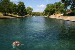 Austin Beat The Heat At Barton Springs