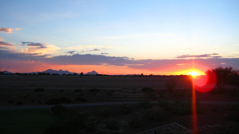 Enjoy the Sunset at Gladden Farms, Marana AZ