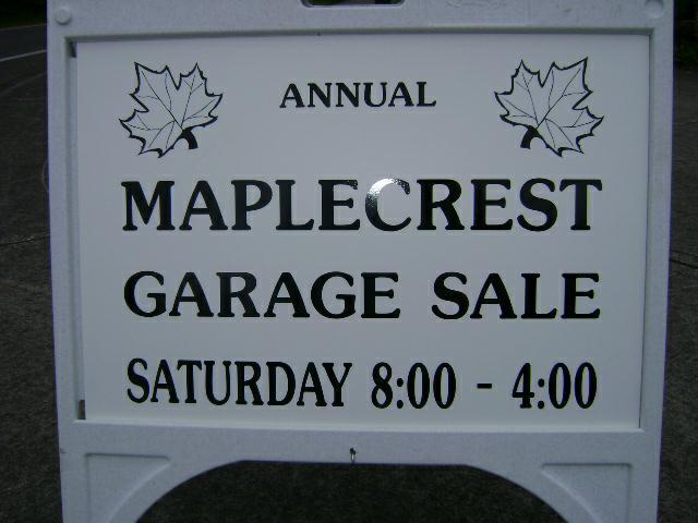 Annual Garage Sale Sat. 6/19/2010 MapleCrest Neighborhood in ... on the stadium vancouver wa, the academy vancouver wa, the garage bremerton wa,