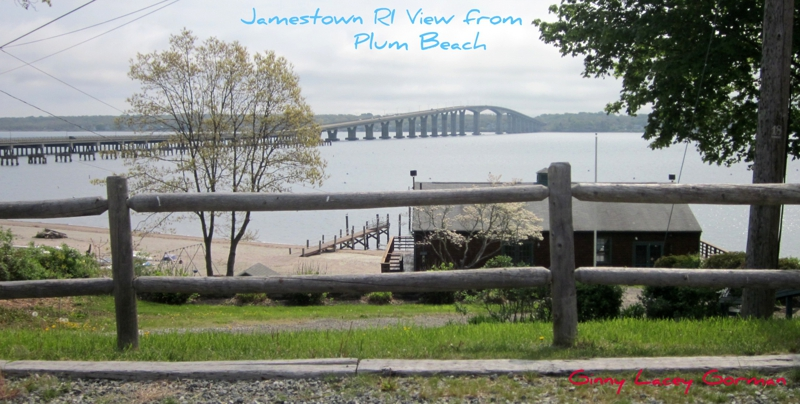 Plum Beach RI View of Jamestown Bridge