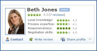 Zillow agnet ratings reviews and endorsements