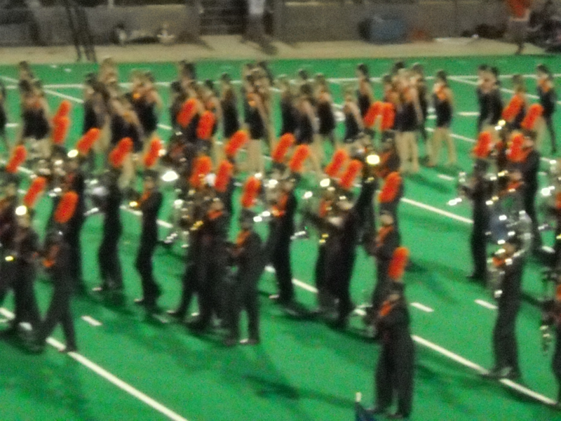 Seven Lakes Band on the field