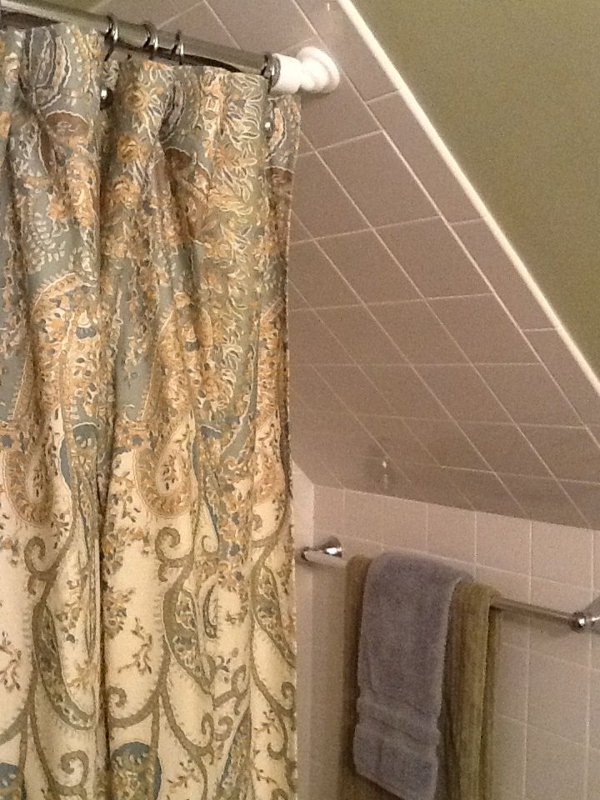 Shower Rod Solution For A Cape Cod Stye Home