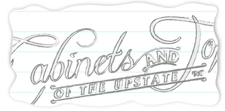 Cabinets and Tops Logo Sketch