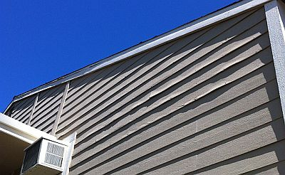 Siding in need of repair