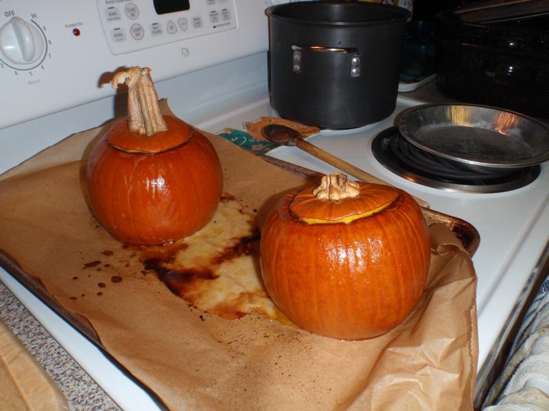 Pumpkin after first baking