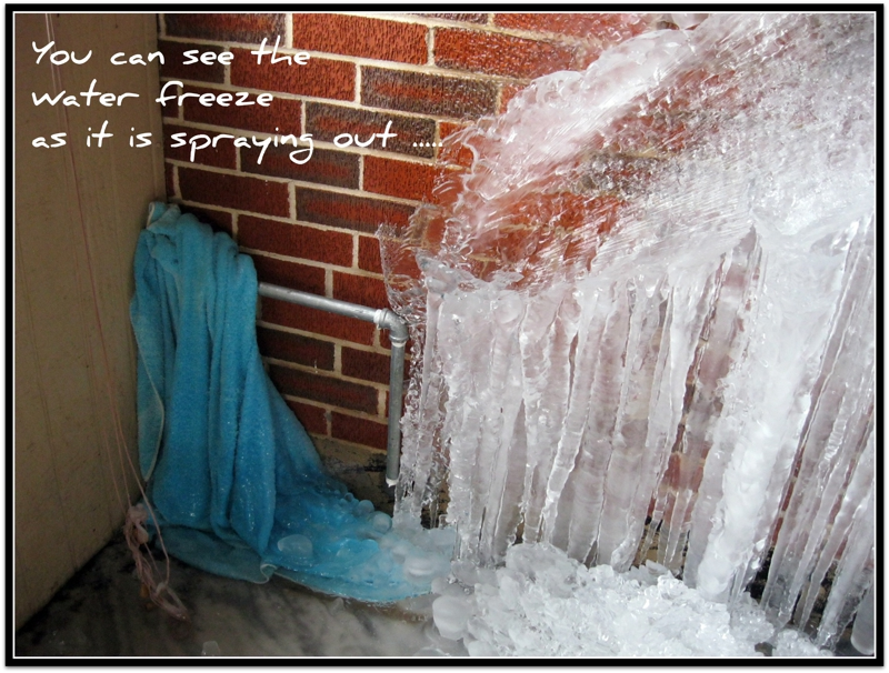 Winterizing Tip of The Day ...Check Those Outside Faucets!