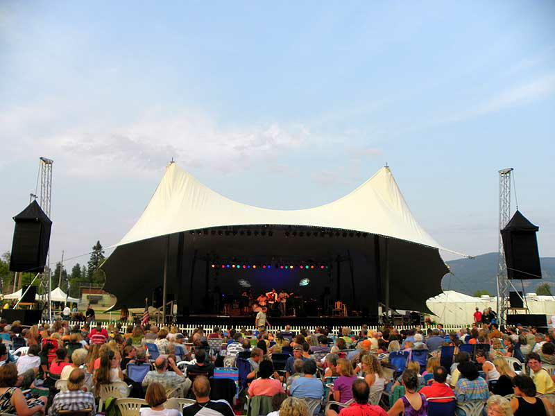 The Festival at Sandpoint along the Pend Oreille River in Sandpoint, Idaho