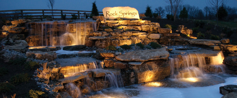 Rock Springs at night