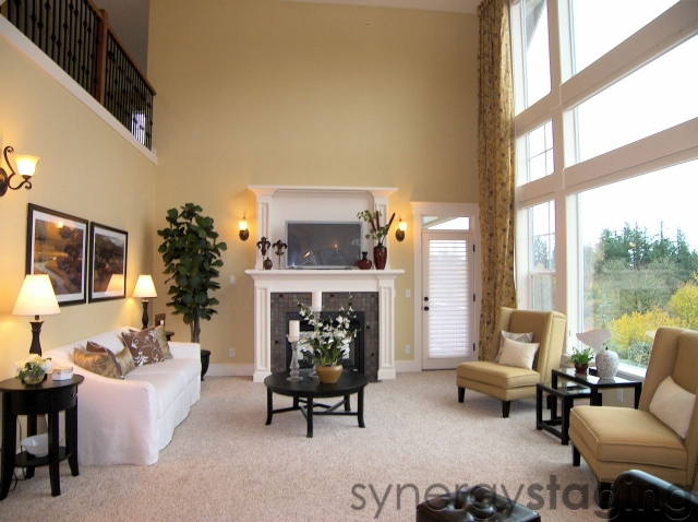 Living Room staged by Synergy Staging in Happy Valley OR